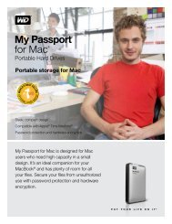 My Passport™ for Mac® Portable Hard Drives ... - Western Digital