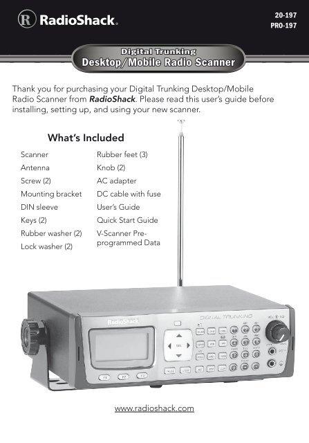 Digital Trunking – Desktop/Mobile Radio Scanner - Radio Shack