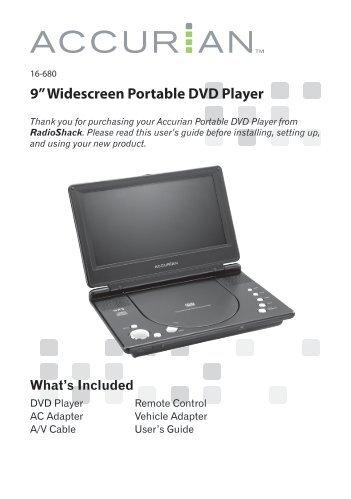 """9"""" Widescreen Portable DVD Player - Radio Shack"""