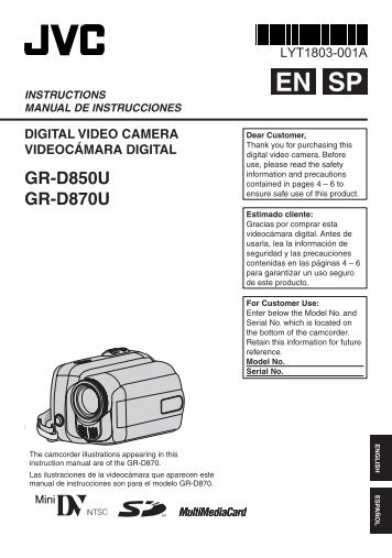 GR-D850U GR-D870U - Radio Shack