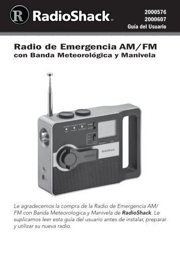 Radio de Emergencia AM/FM - Radio Shack