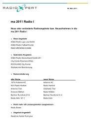 ma 2011 Radio I - radioxpert