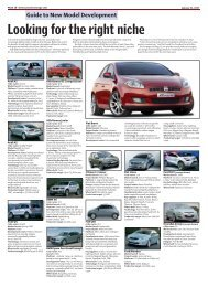 Looking for the right niche - Automotive News