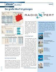 Mediaplaner über RadioXpert, AS&S-Einser 04/2005