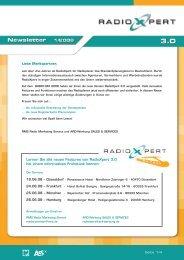 Lernen Sie alle neuen Features von RadioXpert 3.0 bei einem ...