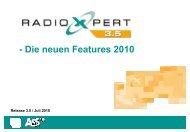 Neue Features RadioXpert 3.5