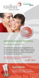 radius Jubiläumsangebot November