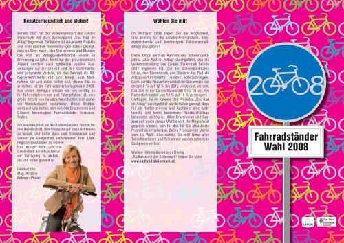 siehe Download Info-Folder - Radland - Steiermark