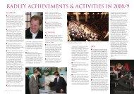 RADLEY ACHIEVEMENTS & ACTIVITIES IN 2008/9 - Radley College