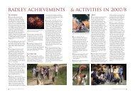 radley achievements & activities in 2007/8 - Radley College
