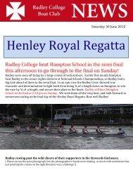 Henley Royal Regatta - Radley College