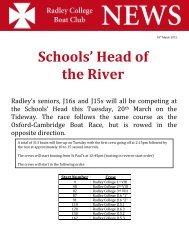 Schools' Head of the River - Radley College