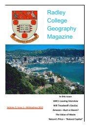 Radley College Geography Magazine