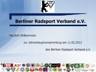 Berliner Radsport Verband e.V. - BSV AdW eV, Abt. Radsport