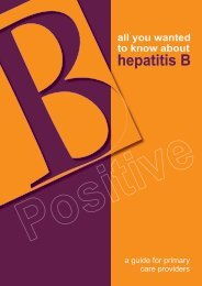 B Positive – all you wanted to know about - ASHM