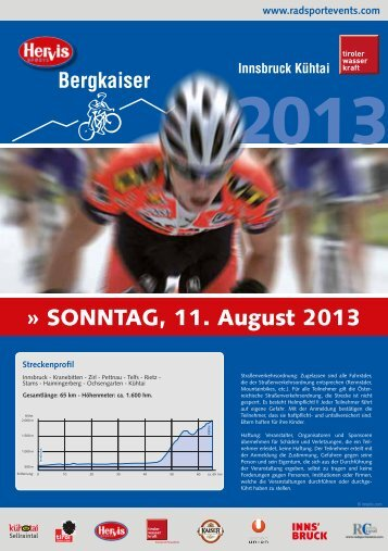 Flyer 2013 - Radsport Events Tirol