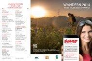 Wanderfolder Salzburger Sportwelt - Radstadt