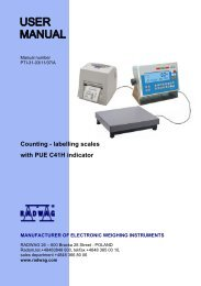 User Manual - Counting - labelling WPW scales - RADWAG
