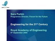 Download presentation for Sara Parkin - Royal Academy of ...