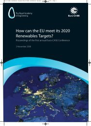 Euro-CASE renewable Targets:Euro-CASE renewable Targets