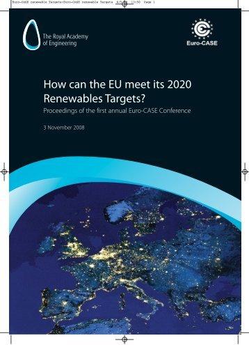 Euro-CASE renewable Targets:Euro-CASE renewable Targets