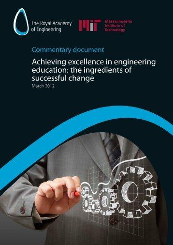 Educational change summary report - SEFI