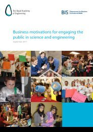 Business motivations for engaging the public in science and ...