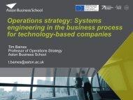 Download Tim Baines presentation