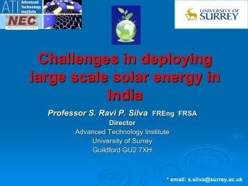 Professor R Silva presentation