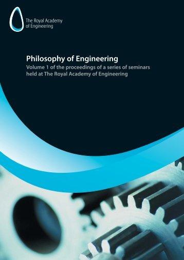 Philosophy of engineering:Philosophy of engineering