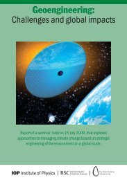 Geoengineering: Challenges and global impacts - Royal Society of ...