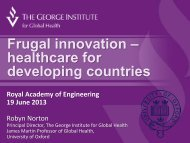 View presentation from Professor Robyn Norton - Royal Academy of ...