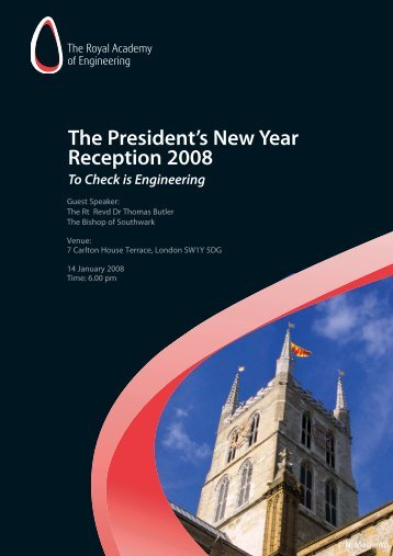 New Year lecture 2007 - Royal Academy of Engineering
