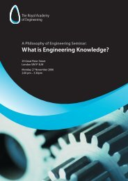 What is Engineering Knowledge? - Royal Academy of Engineering