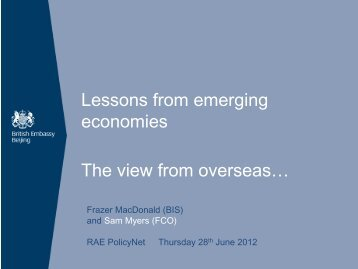 Download Sam Myers' presentation - Royal Academy of Engineering