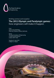 The 2012 Olympic And - Royal Academy of Engineering