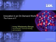 Download the presentation of Dr. Irving Wladawsky-Berger (2764KB)