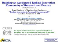 Building an Accelerated Radical Innovation ... - ResearchGate