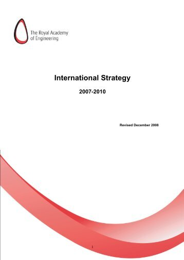Draft International Strategy - Royal Academy of Engineering