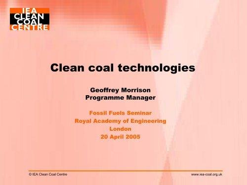 Geoff Morrison's presentation - Royal Academy of Engineering