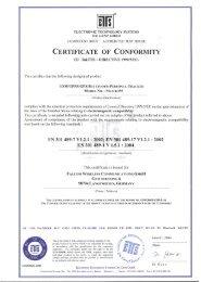 Certificate of Conformity - Falcom