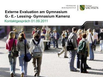 Externe Evaluation am Gymnasium G.- E.- Lessing ... - Rafelt.de