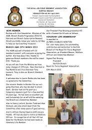 NEWSLETTER NO 201 April 2013 - RAF Regiment Association ...