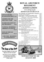 August 2009 - RAF Regiment Association Official Website