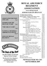 September 2009 - RAF Regiment Association Official Website