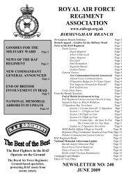 June 2009 - RAF Regiment Association Official Website