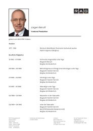 Jürgen Eikhoff - RAG Aktiengesellschaft