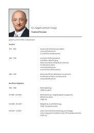 Dr. Jürgen-Johann Rupp - RAG Aktiengesellschaft