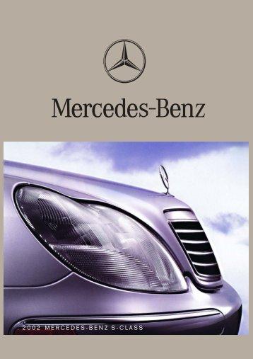 2002 MERCEDES-BENZ S-CLASS - ragtop.org