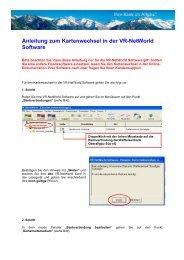 Anleitung zum Kartenwechsel in der VR-NetWorld Software